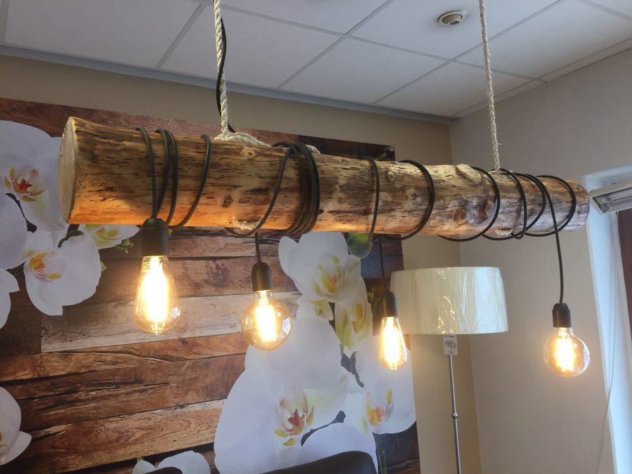 Hngelampe balkenlampe esstisch led altholz lampe balken 137cm details zu deckenlampe aus - Wandlampe holz basteln ...